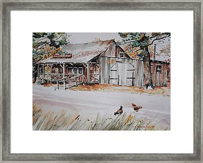 The Blacksmith Shoppe Framed Print