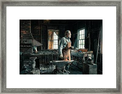 Framed Print featuring the photograph The Blacksmith - Smith by Gary Heller