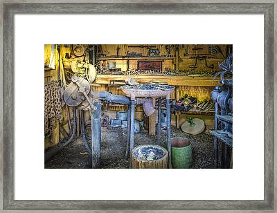 The Blacksmith's Shoppe Framed Print