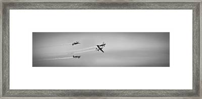 Framed Print featuring the photograph The Blades Aerial Gymnastics Sunderland Air Show 2014 by Scott Lyons