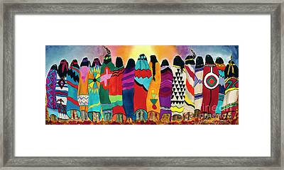 The Blanket Dancers Framed Print by Anderson R Moore