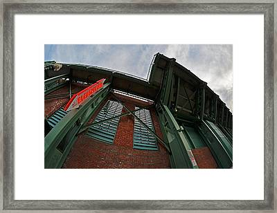 The Bleacher Bar At Fenway Park In Boston Framed Print by Toby McGuire