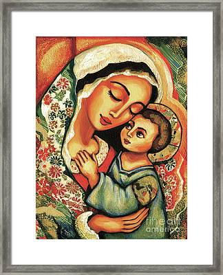 The Blessed Mother Framed Print by Eva Campbell