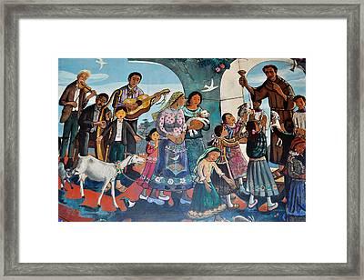 The Blessing Of Animals Olvera Street Framed Print