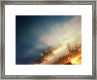 The Blink Of The Sun Framed Print