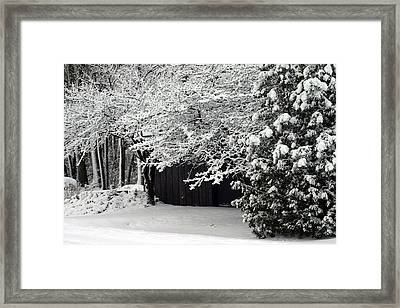The Blizzard Is Over Framed Print by Jack G  Brauer