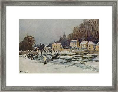 The Blocked Seine Framed Print