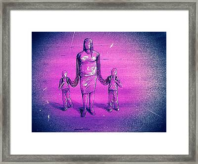 The Blood Links Framed Print by Paulo Zerbato
