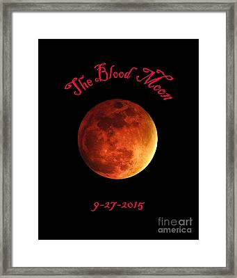 The Blood Moon Framed Print by Jasmin Hrnjic