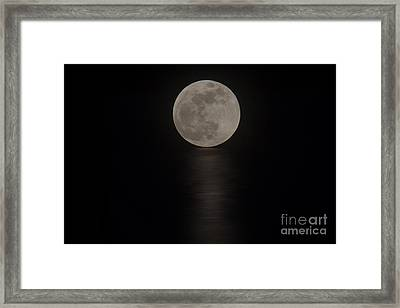 The Blood Moon Rising Framed Print by Bob Hislop