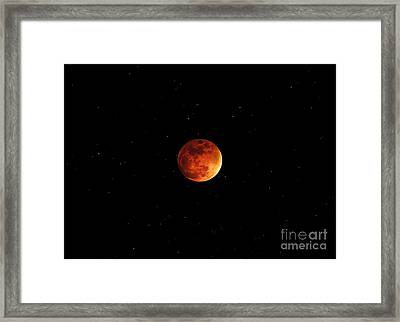The Bloody Moon Framed Print by Jasmin Hrnjic