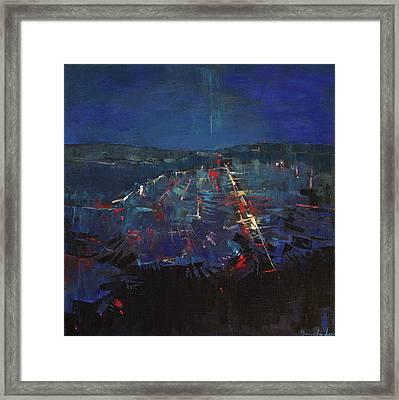 The Blue Framed Print by Anastasija Kraineva