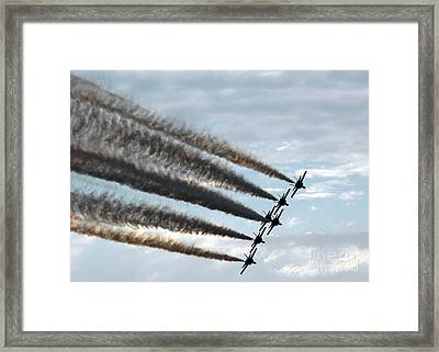 the Blue Angels  Framed Print by Celestial Images