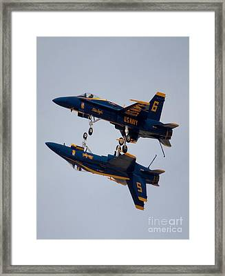 The Blue Angels Flying Over The Another Framed Print by Ivete Basso Photography