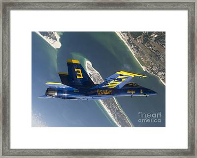 The Blue Angels Perform A Looping Framed Print