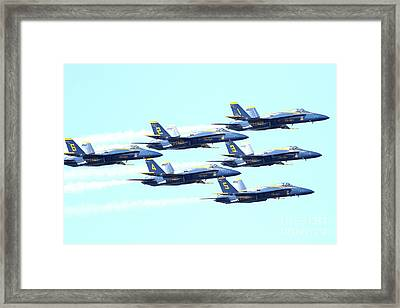 The Blue Angels Team 2 Framed Print by Wingsdomain Art and Photography