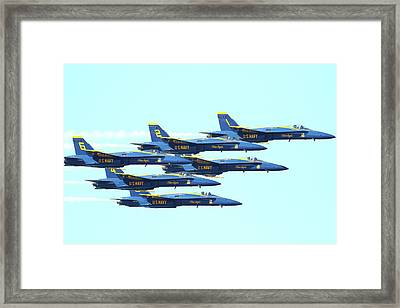 The Blue Angels Team Framed Print by Wingsdomain Art and Photography
