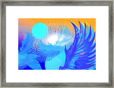 The Blue Avians Framed Print