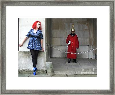 The Blue Ballet Shoes Hide From The Queen's Guard Framed Print