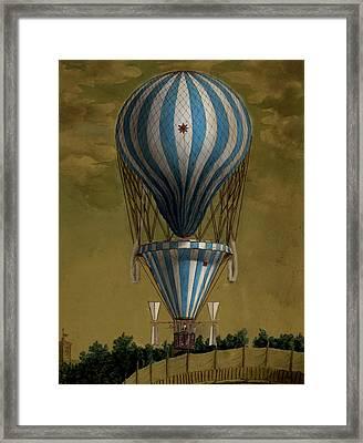 The Blue Balloon Framed Print