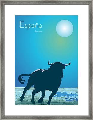 The Blue Bull  Framed Print