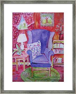 The Blue Chair Framed Print by Marlene Robbins