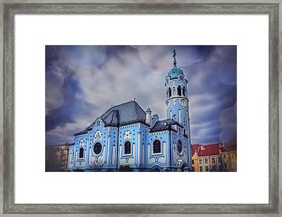 The Blue Church In Bratislava Slovakia Framed Print by Carol Japp