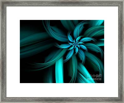The Blue Dahlia Reprise Framed Print