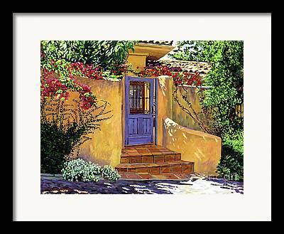 Door Paintings Framed Prints