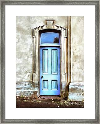 Framed Print featuring the painting The Blue Door by Edward Fielding
