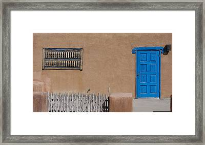 Framed Print featuring the photograph The Blue Door by Gary Cloud