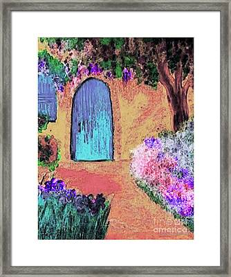 The Blue Door Framed Print by Holly Martinson