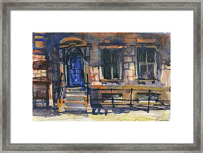 The Blue Door, New York Framed Print
