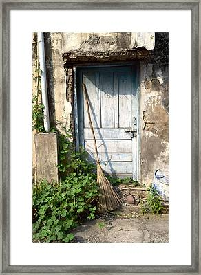 The Blue Door Framed Print
