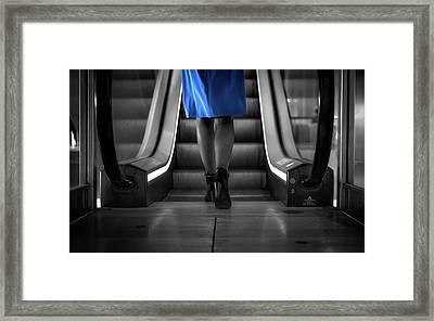 The Blue Dress Framed Print