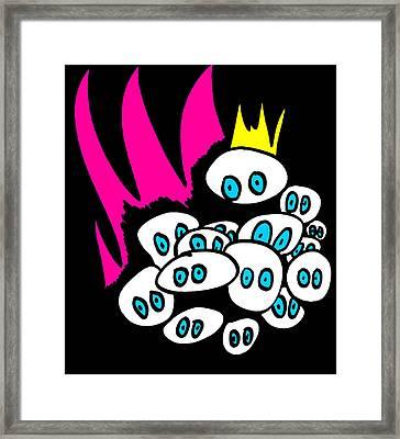 The Blue Eyed Army Framed Print by Jera Sky