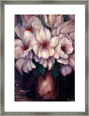 The Blue Flowers Framed Print by Jordana Sands
