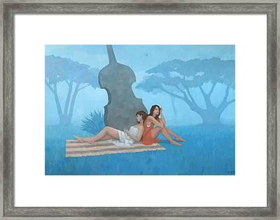 The Blue Garden Framed Print