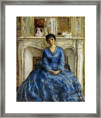 The Blue Gown Framed Print