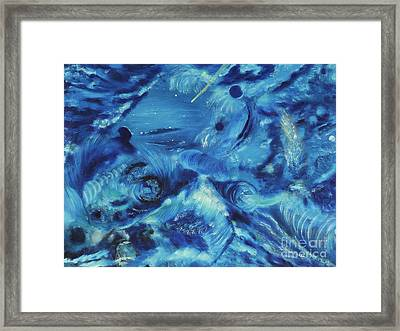 The Blue Hole Framed Print by Regina Wirsich Roberts