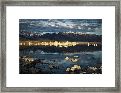 The Blue Hour Mono Lake Framed Print