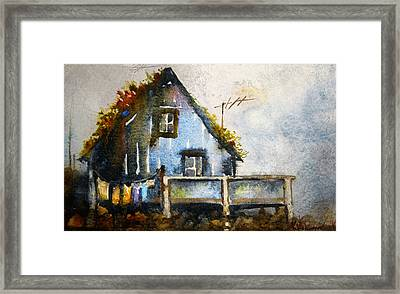 The Blue House Framed Print by Kristina Vardazaryan