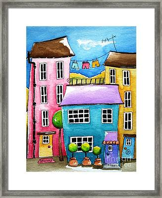 The Blue House Framed Print by Lucia Stewart
