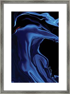 The Blue Kiss Framed Print by Rabi Khan