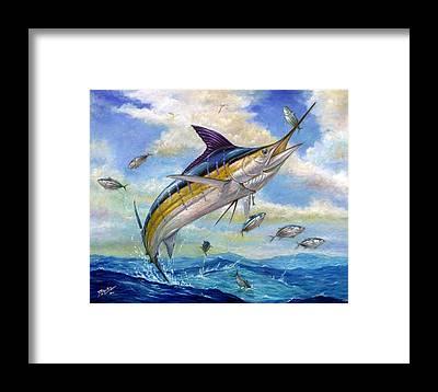 Blue Marlin Framed Prints