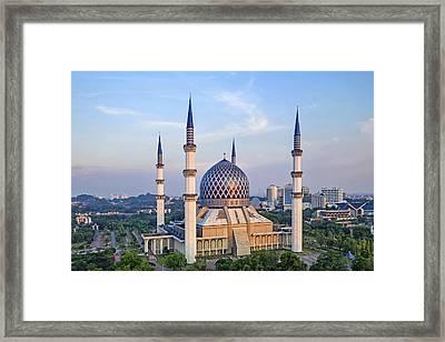 The Blue Masjid Framed Print by Mohd Rizal Omar Baki