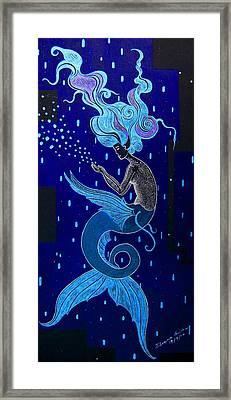 The Blue Mermaid  Framed Print