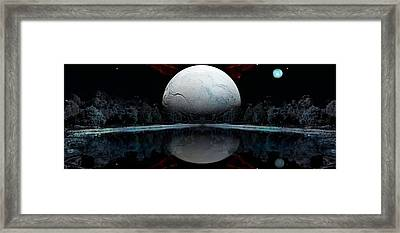 The Blue Moon  Framed Print by Daniel Arrhakis