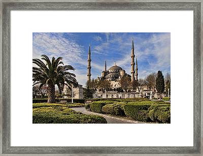 The Blue Mosque In Istanbul Turkey Framed Print