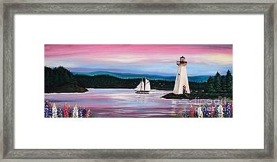 The Blue Nose II At Baddeck Nova Scotia Framed Print